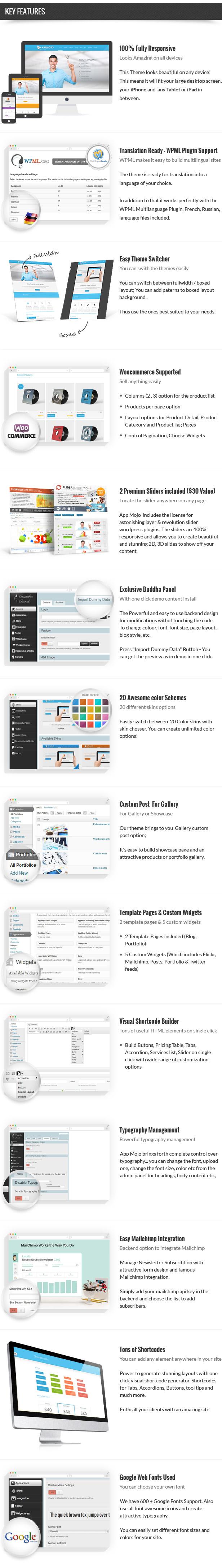 App Mojo - Software Landing Page WordPress Theme - 1