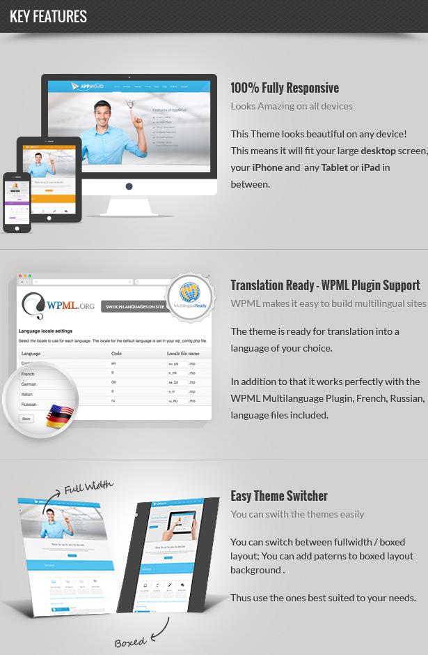 App Mojo - Single Page Software Promotion Theme  App Mojo - Single Page Software Promotion Theme