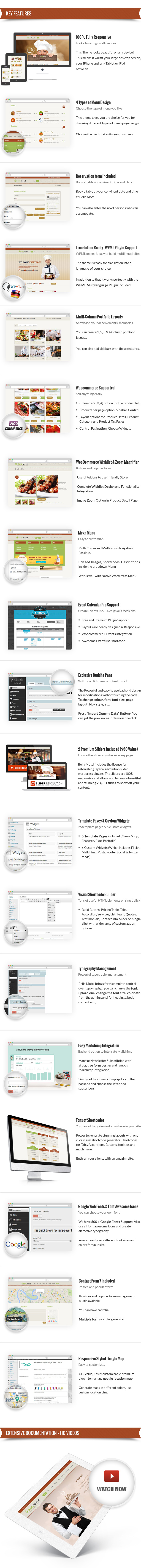 Bella Motel - Restaurant & Bakery WordPress Theme