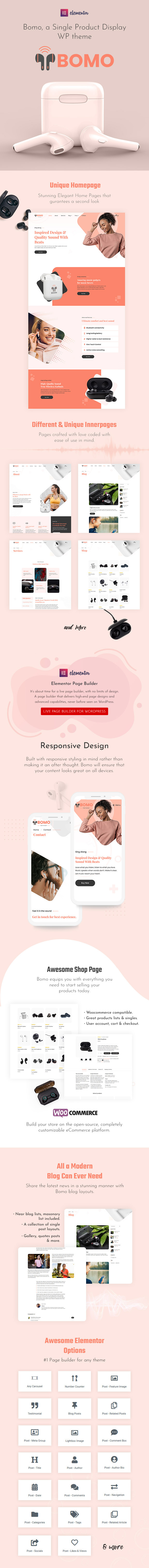 Single Product WordPress Theme