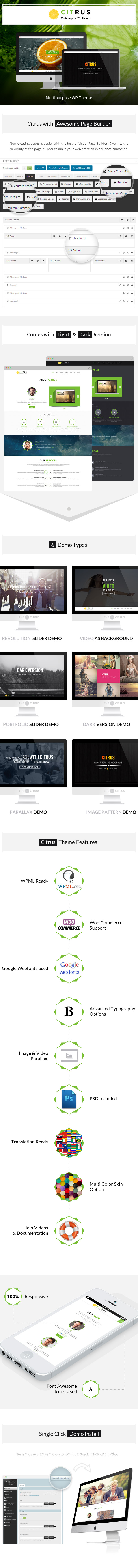 WordPress theme Citrus - Creative One Page Multi-Purpose Theme (Creative)