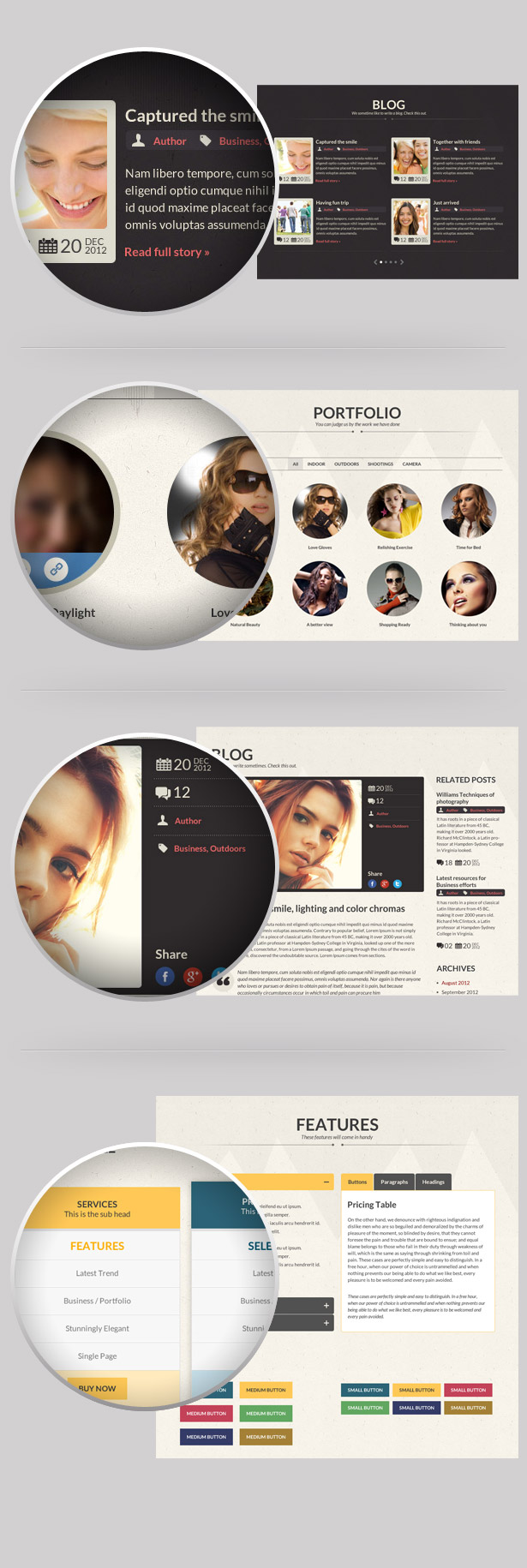 CORE - Multipurpose Single Page PSD Template
