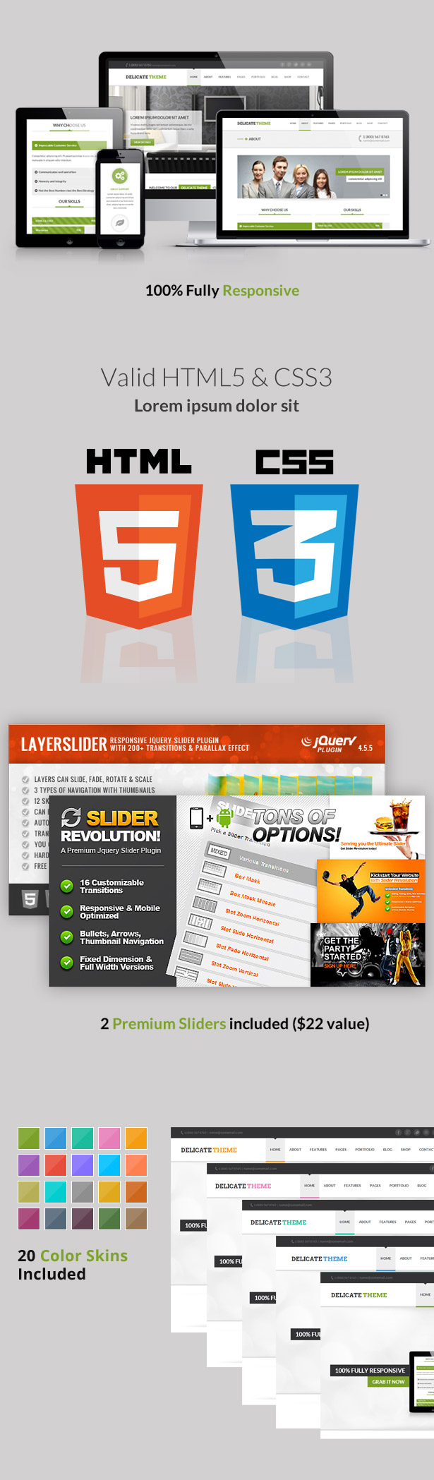 Delicate - Responsive Multipurpose HTML5 Template