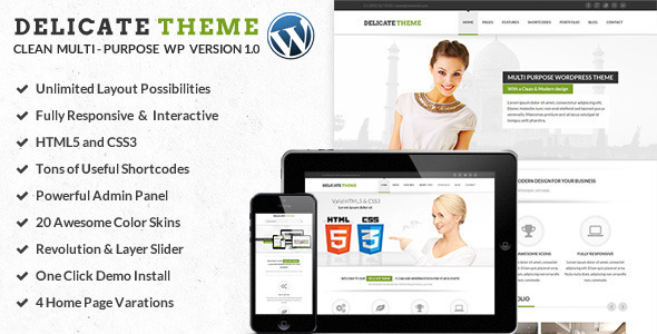 Delicate Multipurpose Theme