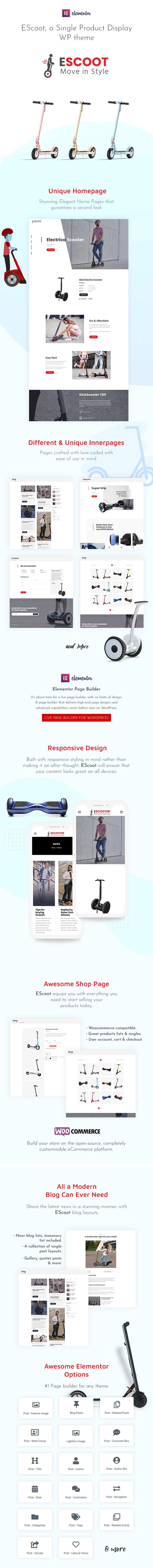 EScoot – Single Product eCommerce Theme, Gobase64