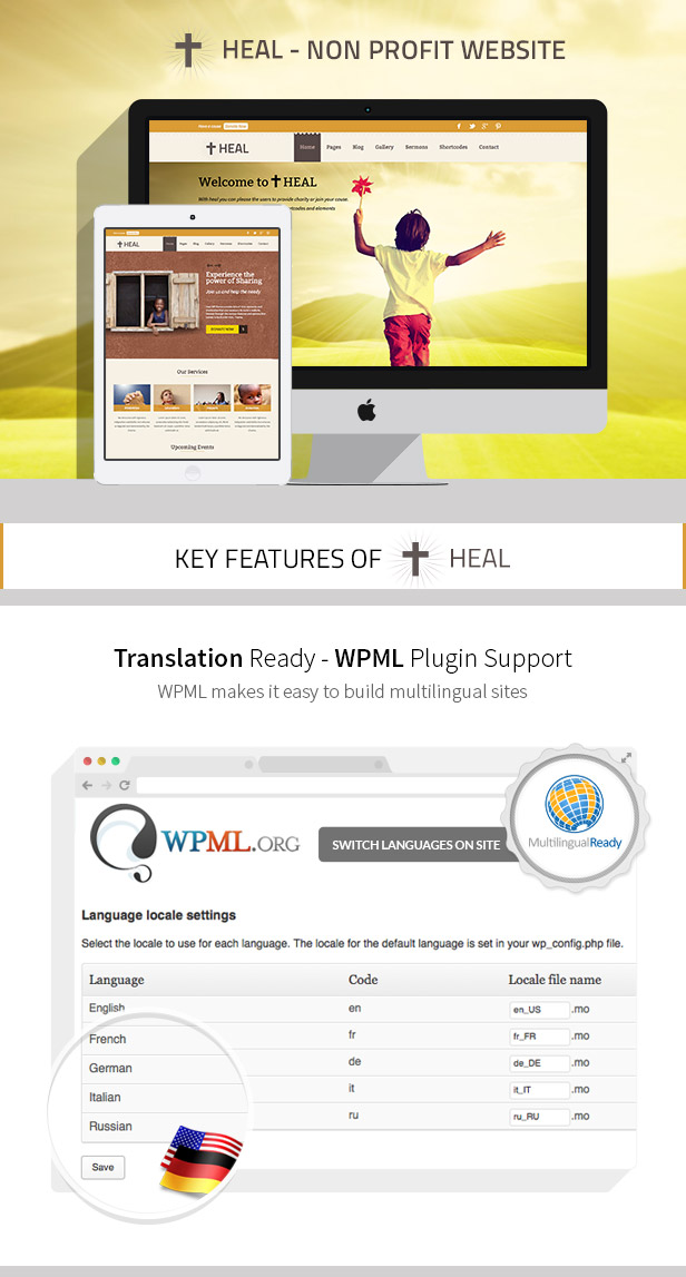 Heal Church & Charity WordPress Theme