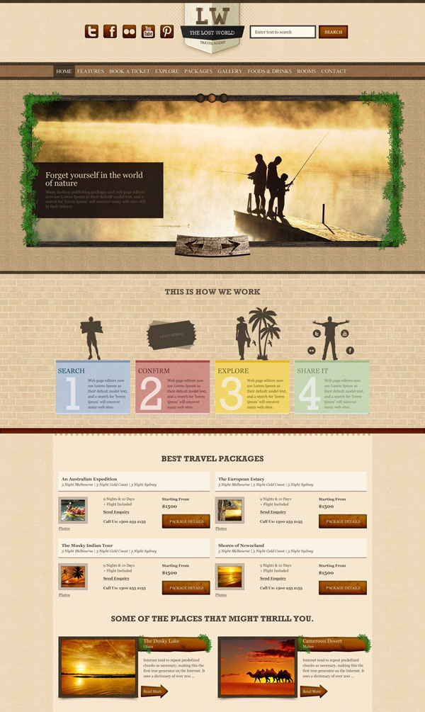 Lost World HTML - Homepage