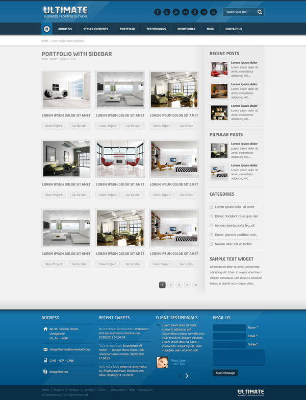 Ultimate Portfolio 3Column with Sidebar
