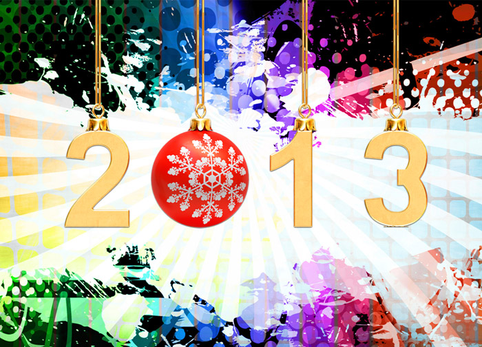 Happy New Year Hanging Bell Wallpaper