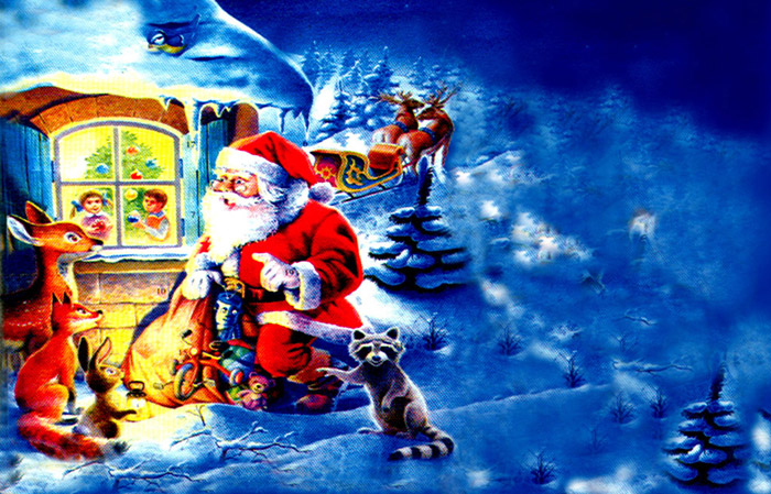 santa claus animated wallpaper