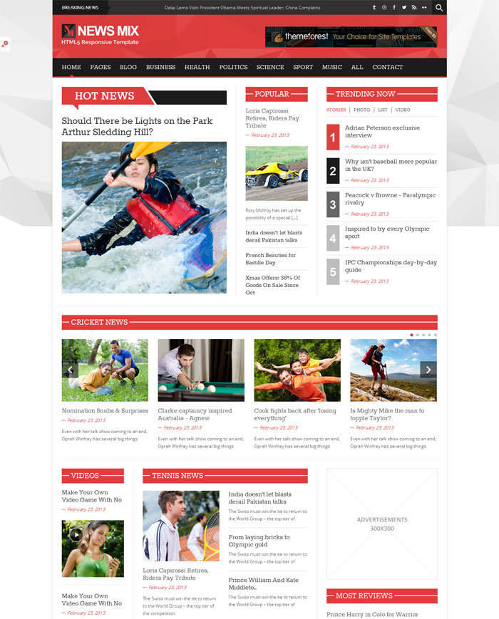 News Html Templates Premium Collection of HTML News Website Templates