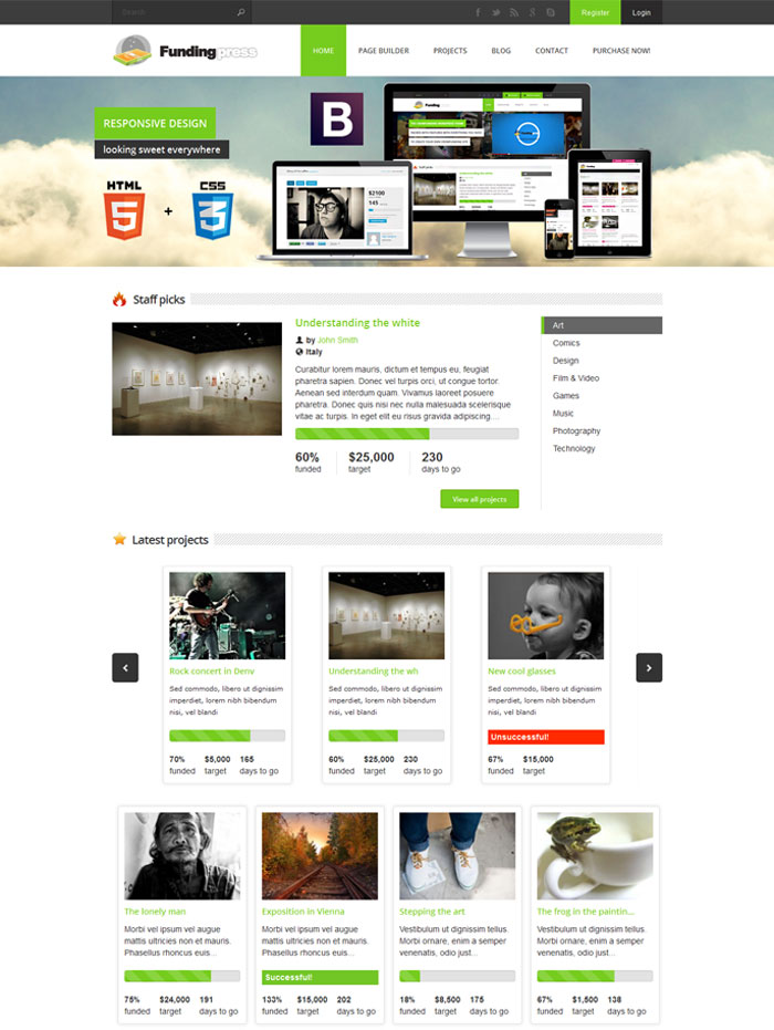 Fundingpress Theme
