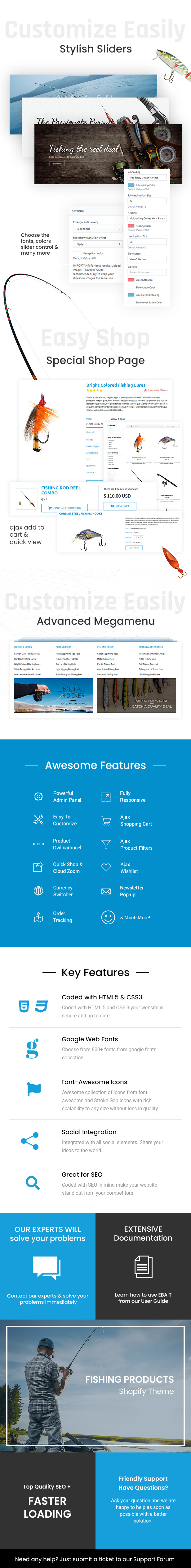 eBait - Fishing Products Store Shopify Theme - 1
