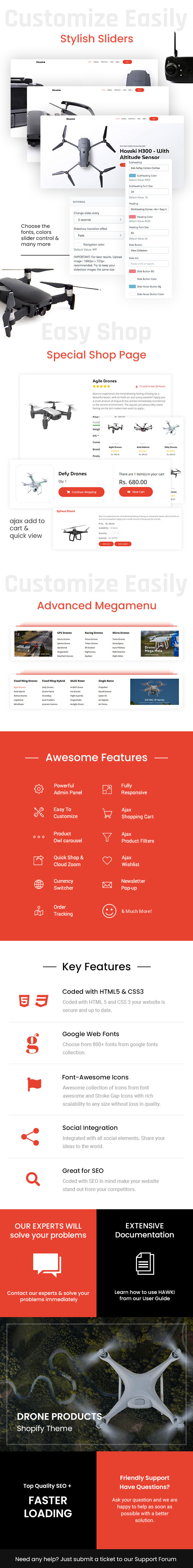 Hawki - Drone Single Product Shopify Theme - 1