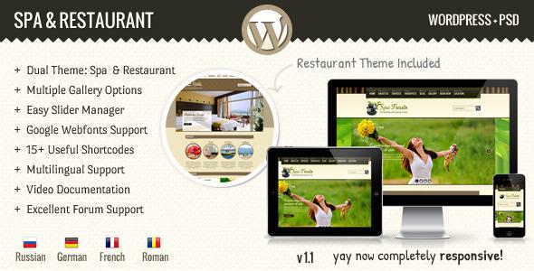 SPA y Restaurante WordPress