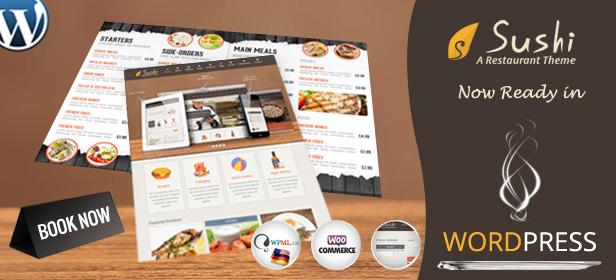 Sushi   Restaurant PSD Template - 1